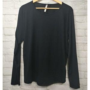 Fabletics Tops - Fabletics Black LS Athleisure Open Back Shirt XXL